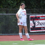 Jackie Restelli playing for Avonworth High School Soccer